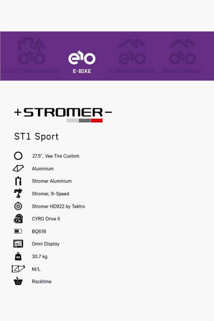 Stromer ST1 Sport 27.5 e-bike uomo 2021 Colore Grigio scuro 2