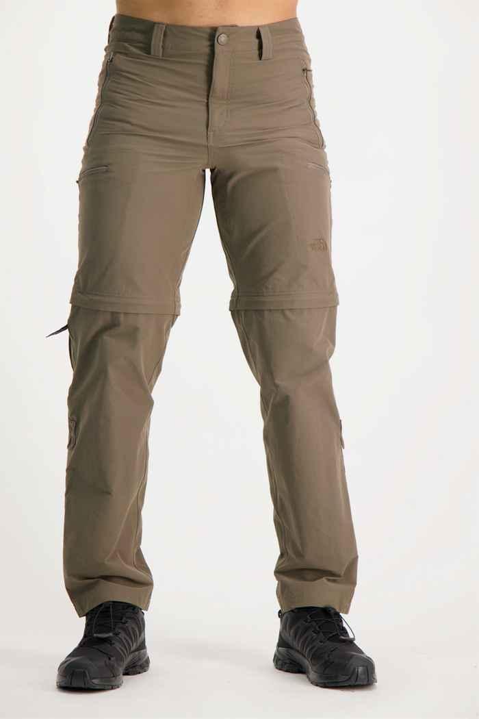 The North Face Exploration Zip-Off pantaloni da trekking uomo Colore Marrone 1