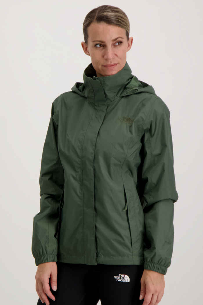 The North Face Resolve 2 Damen Regenjacke Farbe Olive 1