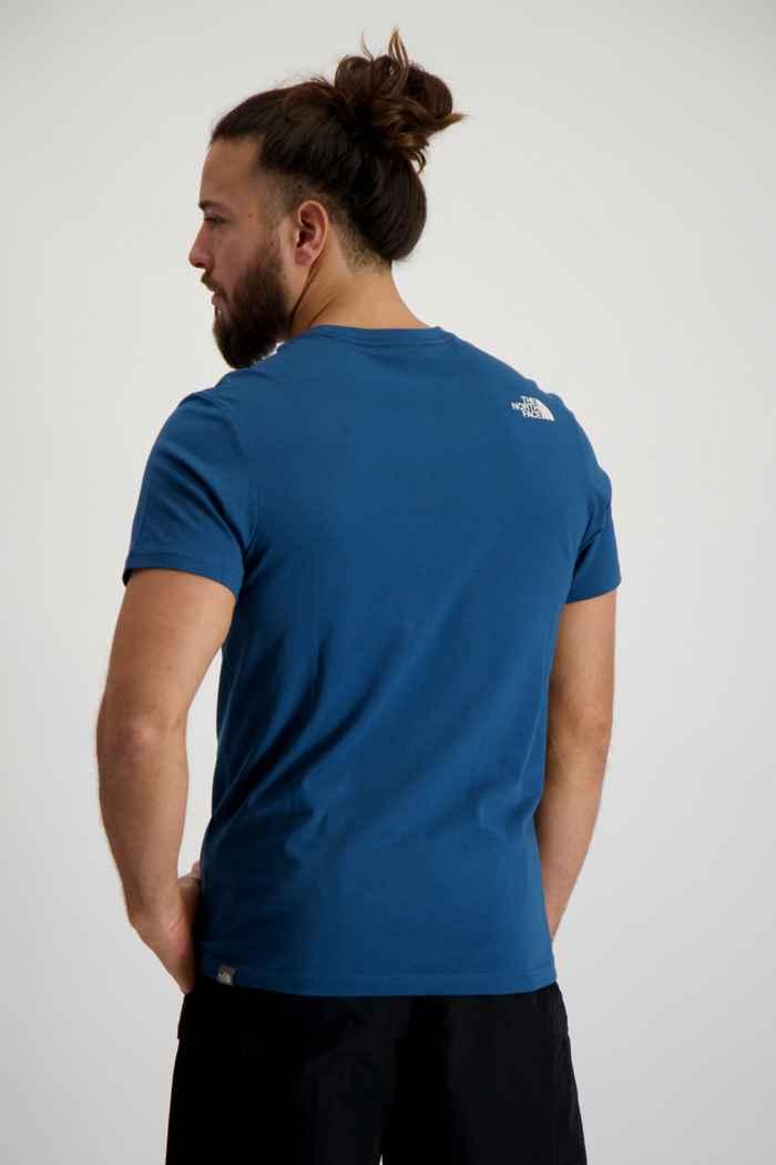 The North Face Woodcut Dome t-shirt hommes Couleur Bleu pétrole 2