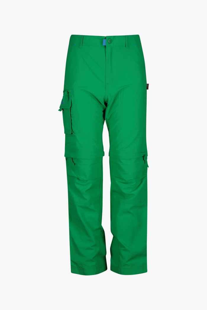 Trollkids Oppland Zip-Off Kinder Wanderhose Farbe Grün 1