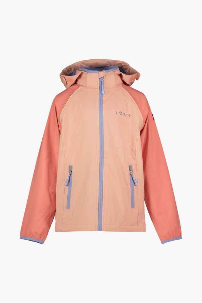 Trollkids Rodane Zip-Off XT veste softshell filles Couleur Apricot 1