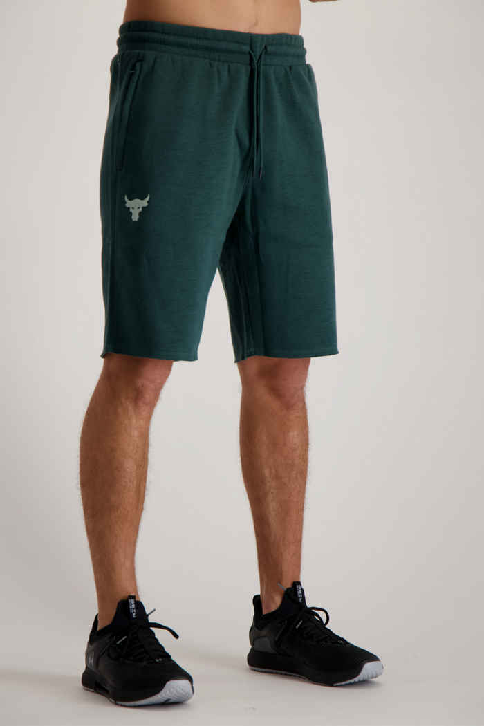 Under Armour Project Rock Charged Cotton® Fleece Herren Short 1