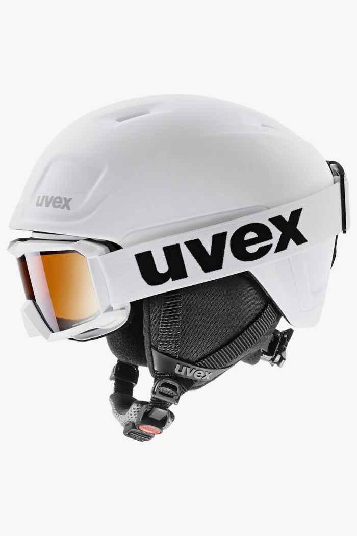 Uvex Heyya Pro casque de ski + masque enfants Couleur Noir-blanc 1