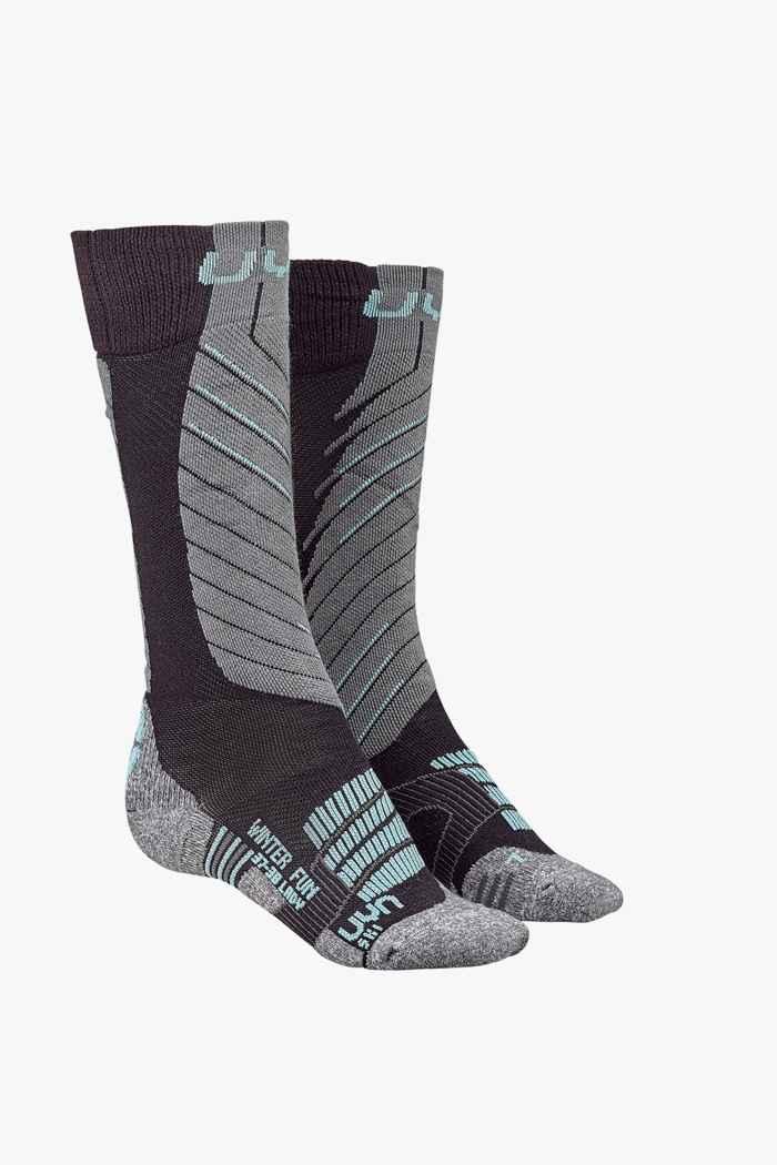 UYN Winter Fun 35-36 chaussettes de ski Couleur Gris 1