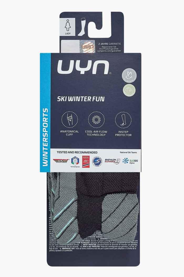 UYN Winter Fun 35-36 chaussettes de ski Couleur Gris 2