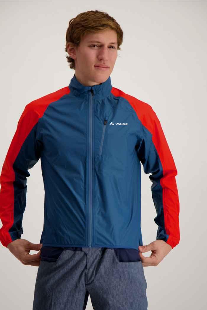 Vaude Drop III giacca da bike uomo Colore Blu-rosso 1