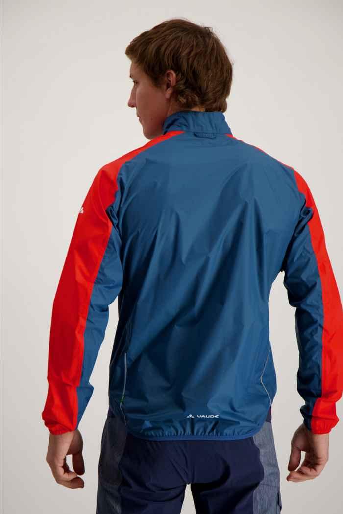 Vaude Drop III giacca da bike uomo Colore Blu-rosso 2