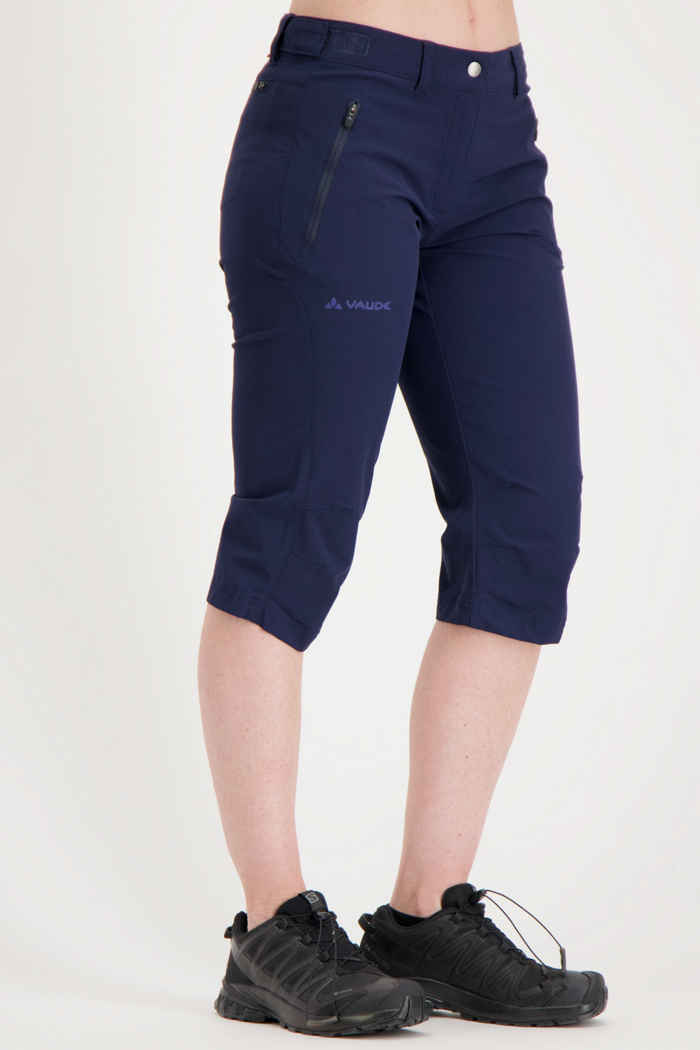 Vaude Farley Stretch II Damen 3/4 Wanderhose Farbe Navyblau 1