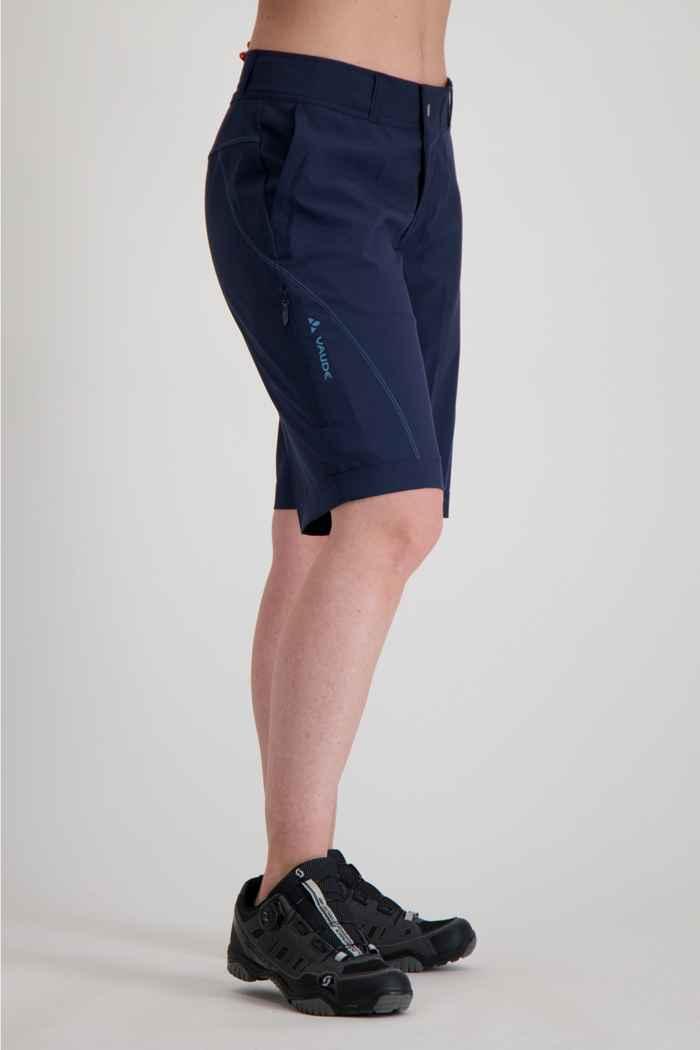 Vaude Ledro Damen Bikeshort Farbe Navyblau 1