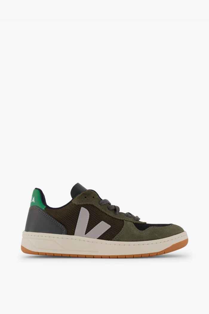 VEJA V-10 B-Mesh sneaker donna Colore Verde oliva 2