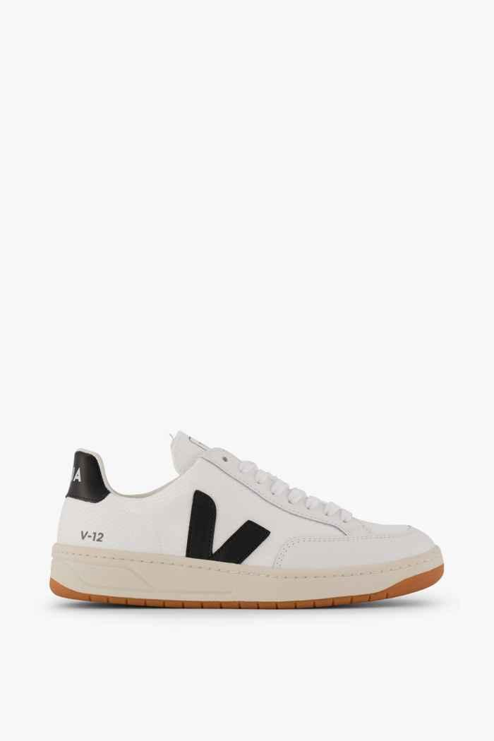 VEJA V-12 Damen Sneaker Farbe Schwarz-weiß 2
