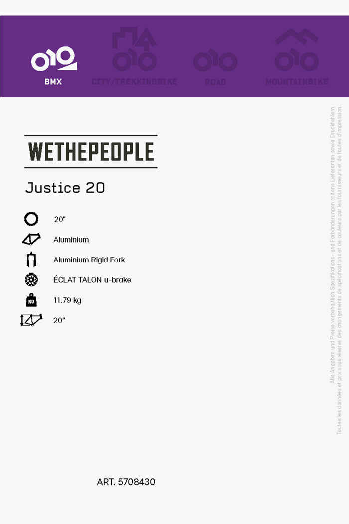 Wethepeople Justice 20 BMX 2021 2