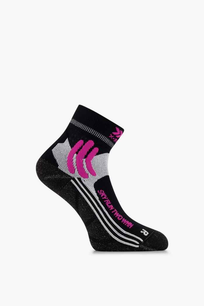 X-Socks Sky Run Two 37-38 chaussettes de course femmes Couleur Noir-blanc 1