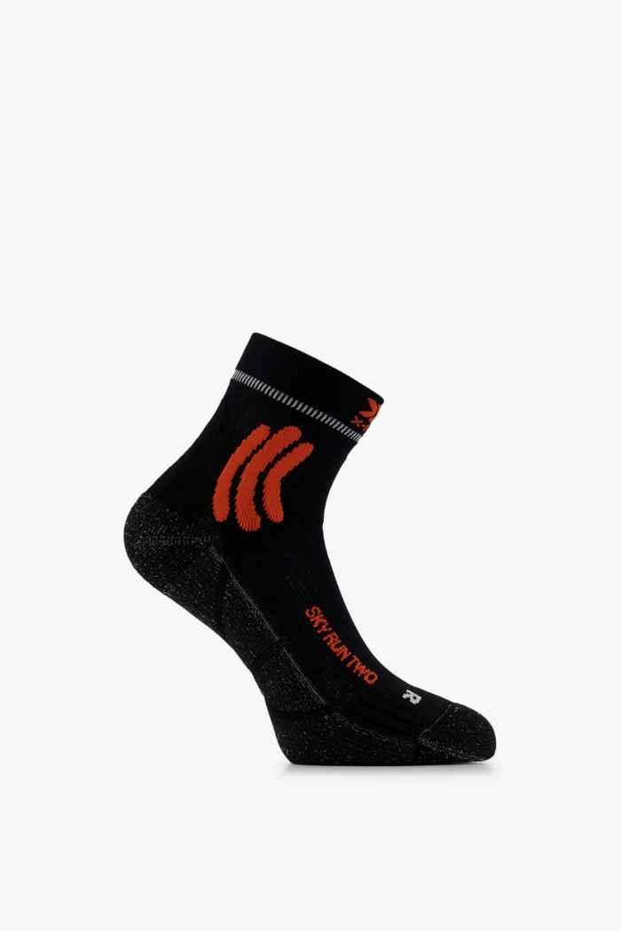 X-Socks Sky Run Two 42-44 chaussettes de course Couleur Noir-blanc 1